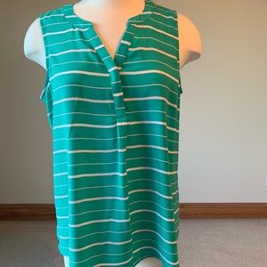 Apt 9 green striped tunic top